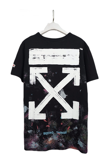 """OFF-WHITE Galaxy Brushed """"Seeing Things"""" Tee"""