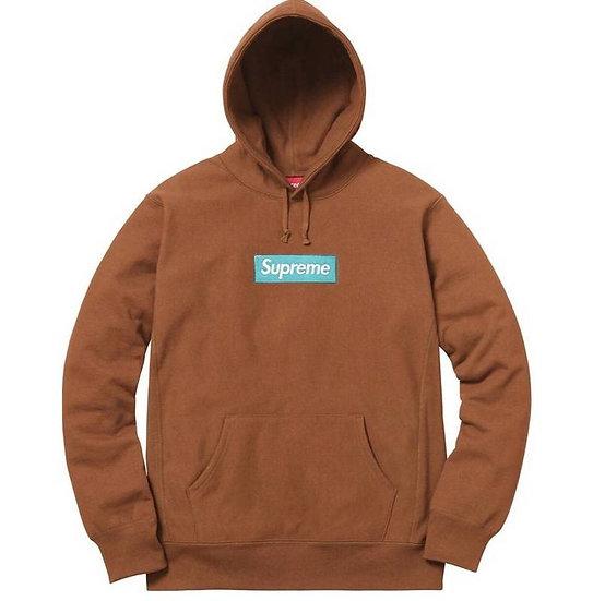 Supreme Classic Box Logo Hoodie Brown