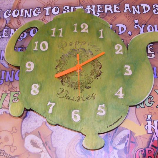 Bespoke lasercut clock Timebubble Toys