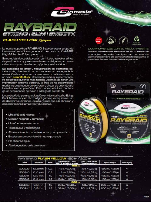 CINNETIC RAYBRAID 8 LIGHT GAME F.YELLOW