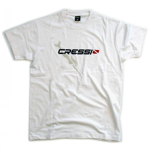 CAMISETA CRESSI TEAM BLANCO
