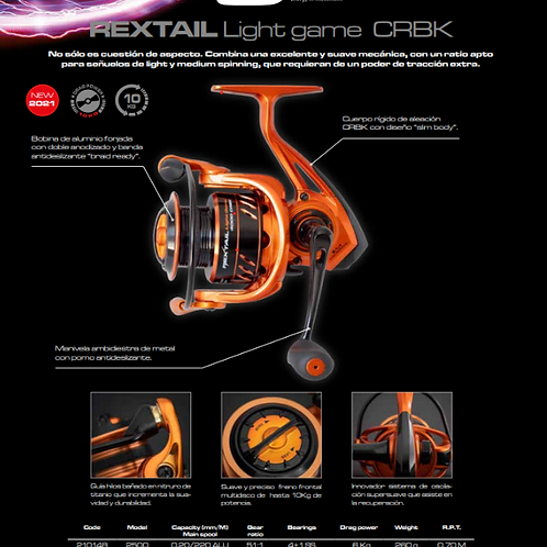 CINNETIC REXTAIL LIGTH GAME CRBK 2500/4000