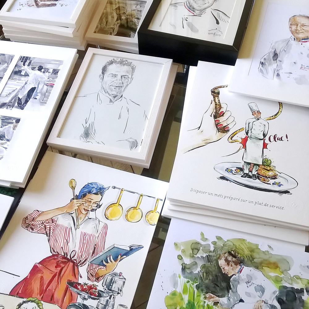Aurélie Sartres 35 dessins exposés au Musée Escoffier !
