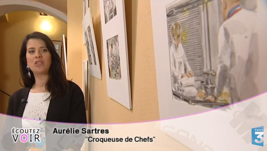 Capture d'écran Aurélie Sartres sur France3 dans l'émission Ecoutez voir