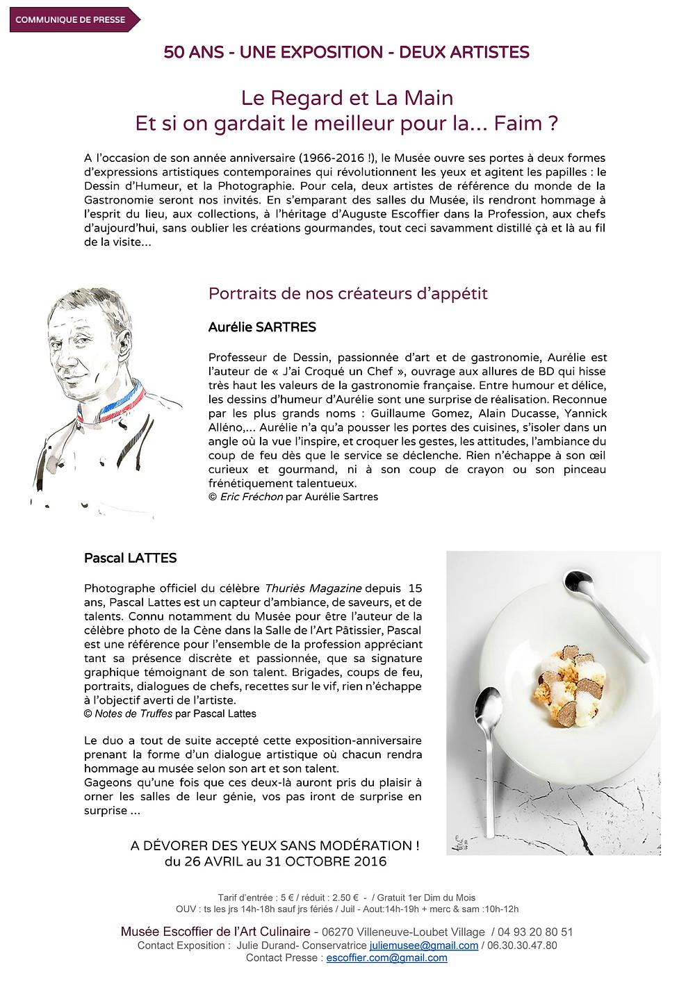 Aurélie Sartres - Dossier de presse