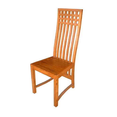 Cadeira alta em madeira Teca  /  45x39x115