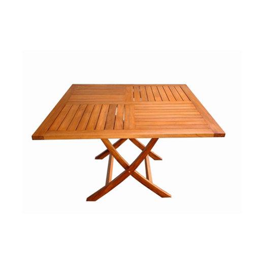 Mesa quadrada dobrável em madeira Teca