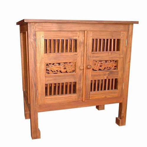 Móvel c/ 2 portas em madeira Teca  /  85x40x80