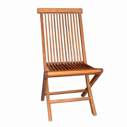 Cadeira dobrável em madeira Teca