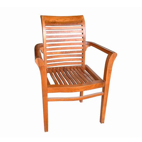Cadeira c/ braços em madeira Teca