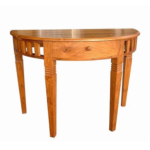 Mesa console c/ gaveta em madeira Teca