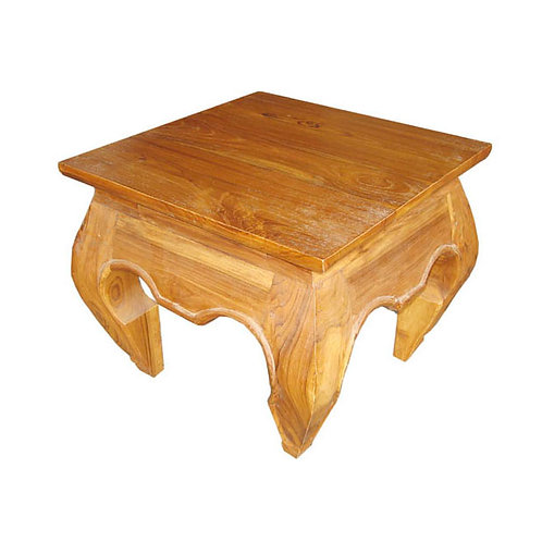 Mesa lateral Opium em madeira Teca