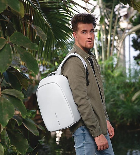 Bobby Hero Spring, mochila antirrobo gris