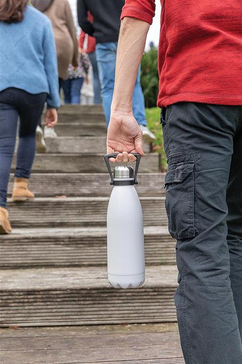 Botella grande de acero inoxidable al vacío 1.5L blanco