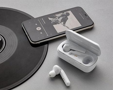 Auriculares Free Flow TWS con caja de carga blanco
