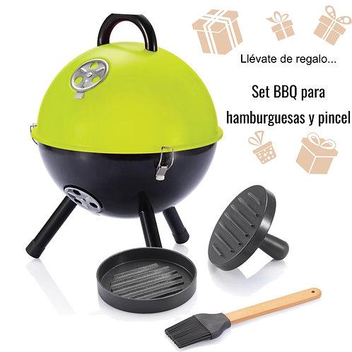 Barbacoa 12 pulgadas + set BBQ para hamburguesas y pincel