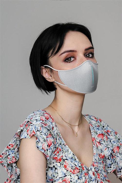 Set de máscara protectora gris, azul
