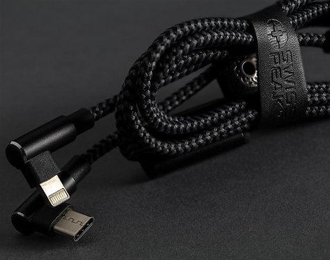 Cable lujoso 3 en 1 , negro