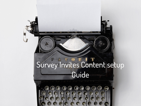 Survey Email Content Setup Guide