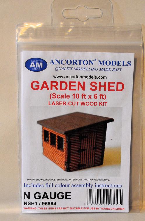 Ancorton Models 95664 N Gauge Garden Shed Laser Cut Kit