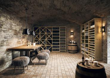 Weinkeller mit Stil, Weinregale
