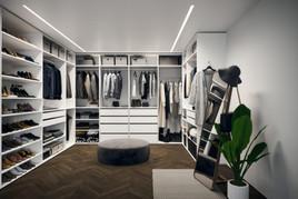 Ankleidezimmer optimal ausstatten mit einem Massmöbel