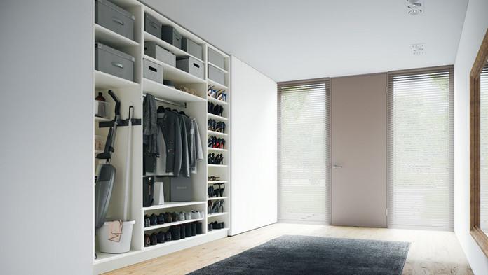 Garderobenschrank im Eingangsbereich von ecoleo.