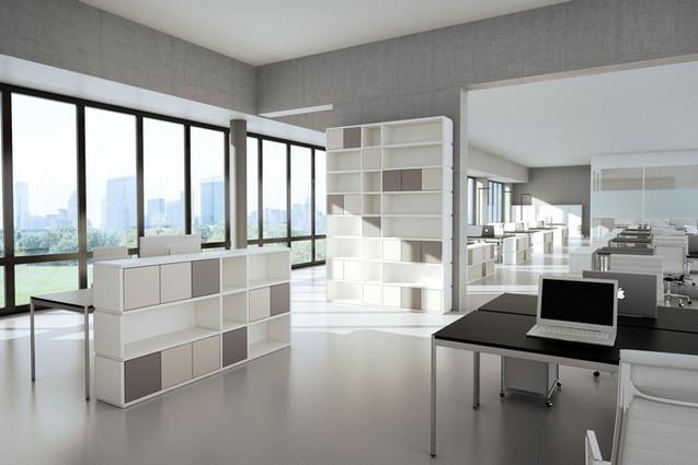 Dein Büro, Arbeitszimmer, Arbeitsbereich mit ecoleo - Stauraum für deine Ordner