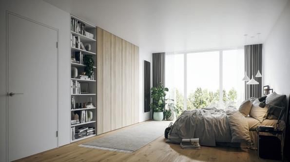 Kleiderschrank mit Bücherregal passgenau in die Nische bauen mit ecoleo