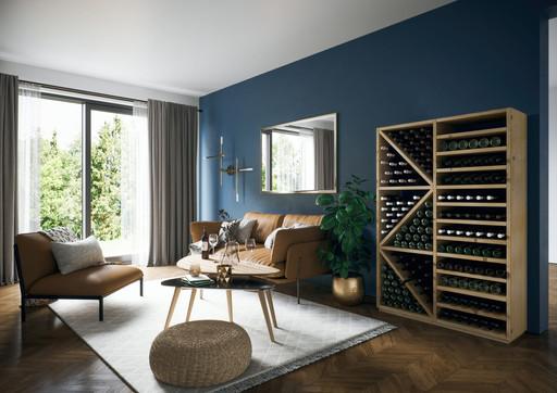Weinregal aus Holz von ecoleo.