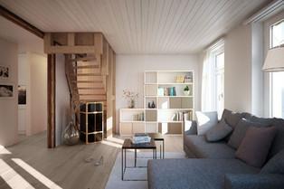 """ecoleo """"flex"""" unter Treppen oder Dachschrägen."""