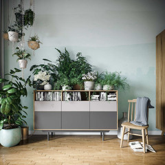 bepflanztes Sideboard, Kommode