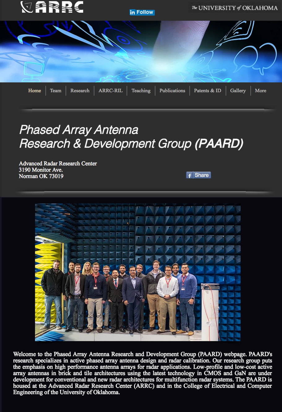 Tools & Resources | Phased array antennas |PAARD-ARRC-OU