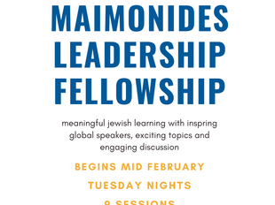 Apply for Spring 2021 Maimonides!