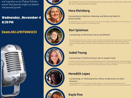 November Update: Podcast Fellowship Torah Slam