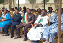 Officials Listening in at Official Ceremony to Commemorate the Project's Launch