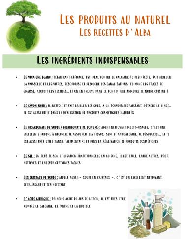 Les ingrédients indispensables