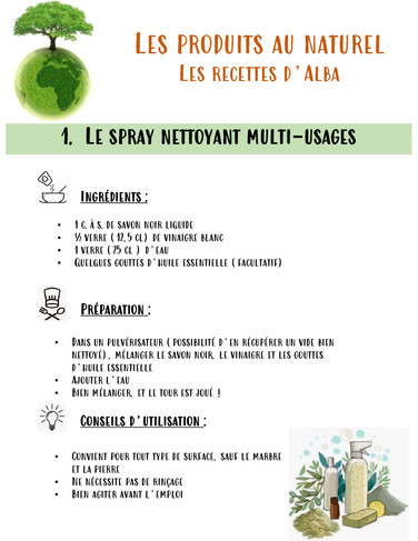 Le spray nettoyant multi usages