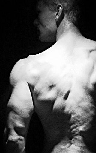 Triceps, back shoulder, ripped, V-shape, Daniel Schou, photo by Meline Höijer Schou, Penandbarbell.com