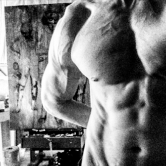 Vascular, vascularity, Daniel Schou, abs workout, abs exercises, photo by Meline Höijer Schou