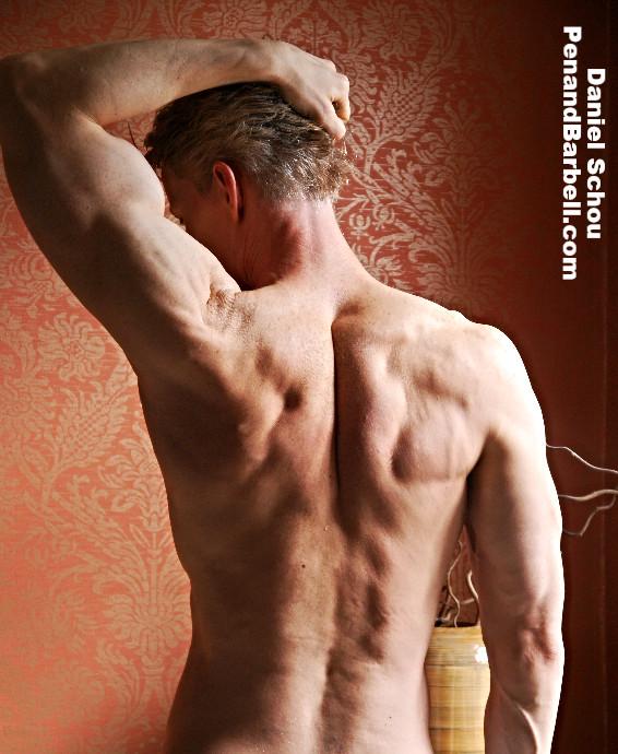 Daniel Schou, back muscles, shoulder workout, German Volume Training, kale