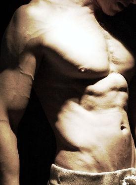 abs, serratus, chiseled physique, vascularity, Daniel Schou, photo by Meline Höijer Schou, www.melineart.com