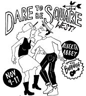 Couple square dancing, dare to be square west