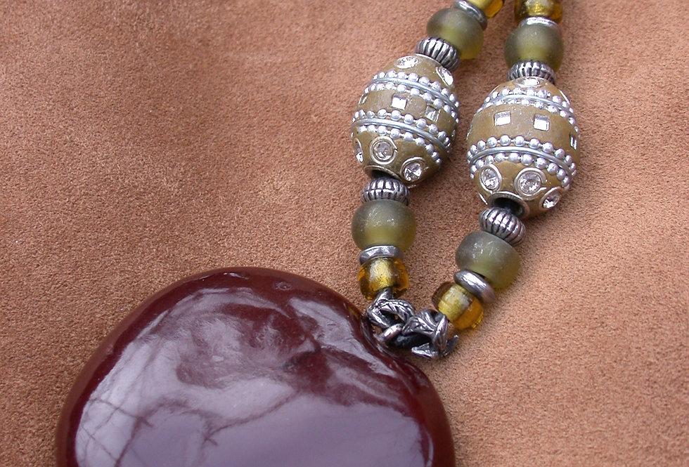 marakesh sea heart key chain