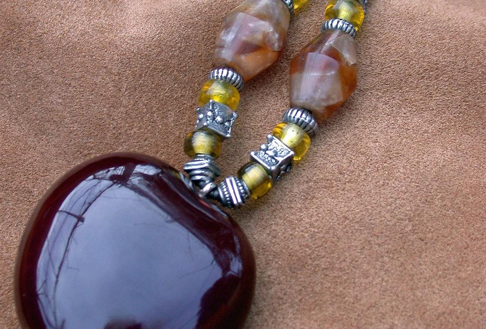 butterscotch sea heart key chain