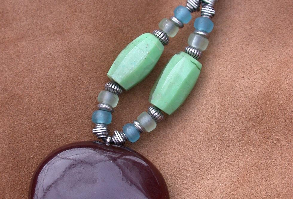 fresh lime sea heart key chain