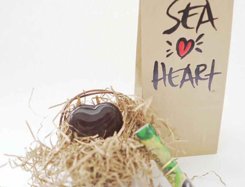 SeaHeart Talisman Nest & Paper Bag