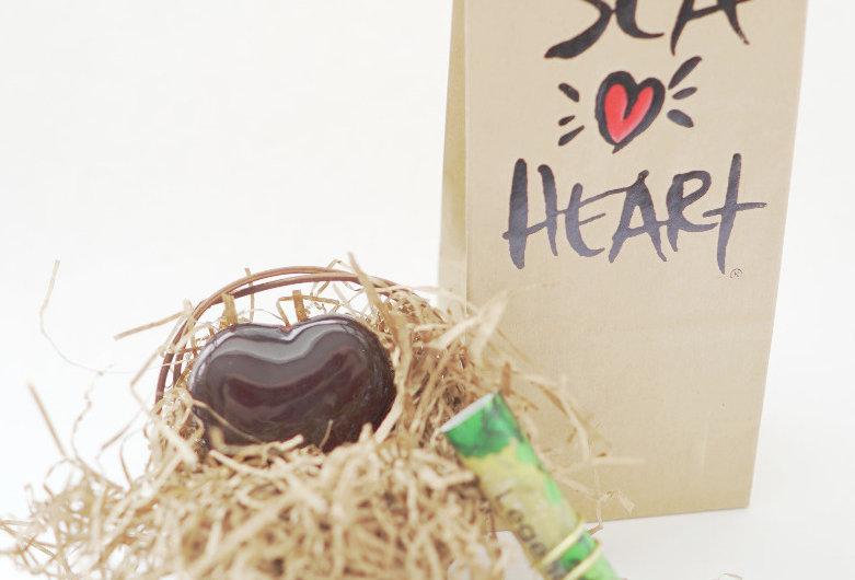 Sea Heart Talisman in Paper Bag