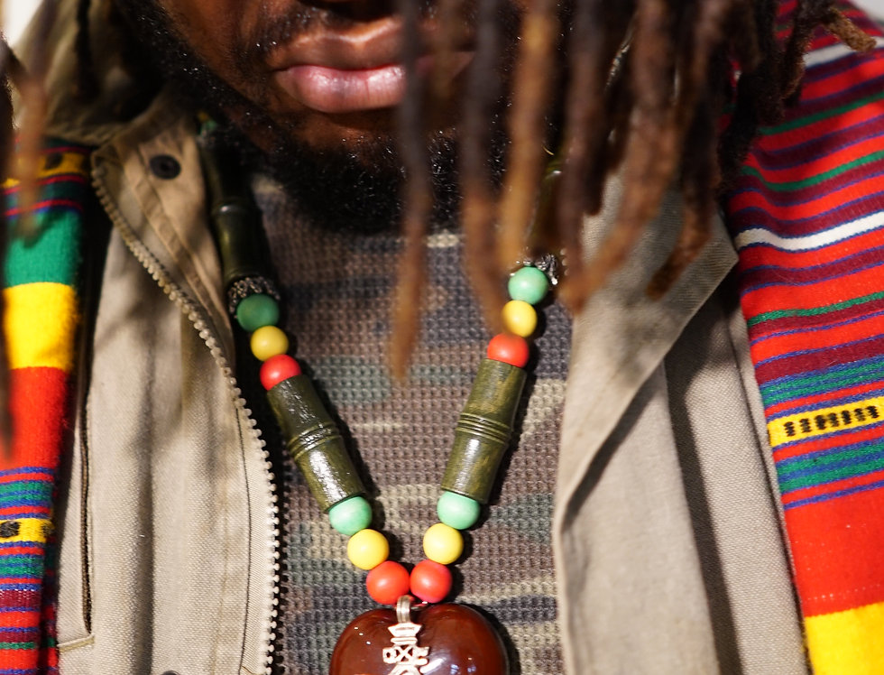 Irie Rasta SeaHeart Necklace with metal Star of David pendant