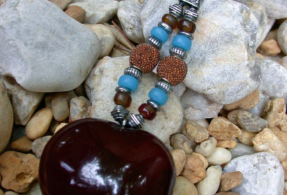 Fossils sea heart key chain